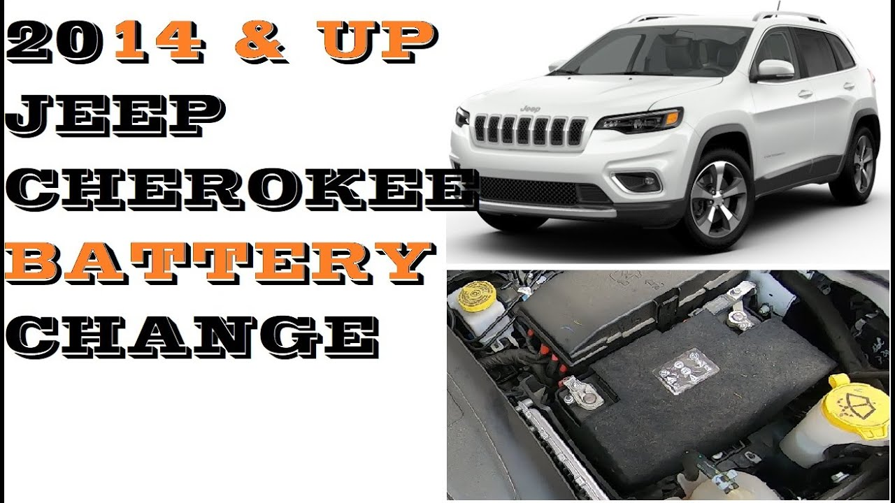 Jeep Cherokee Battery Replacement 2014 And Newer Easy Youtube