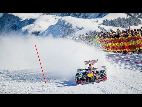 Max Verstappen drives F1 car in snow