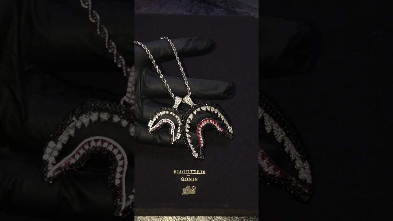 Custom bathing ape bape shark necklace and pendant wgm youtube custom bathing ape bape shark necklace and pendant wgm aloadofball Images