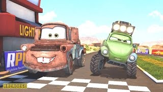 Disney Pixar Cars Racing Lightning McQueen vs Mater Shifty Sidewinder Holley Shiftwell CARS 4 KIDS