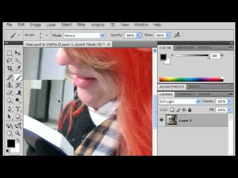 Photoshop Tricks : How To Change Hair Color In Photoshop
