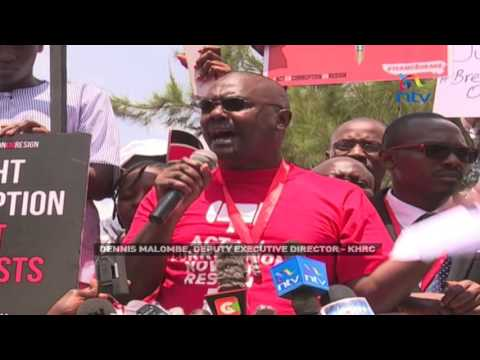 #SystemYaMajambazi: Civil society groups demand action to end corruption