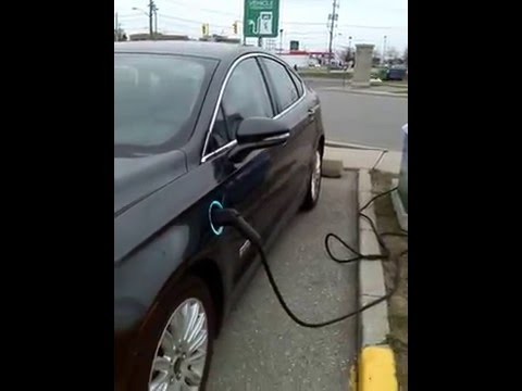 Environmental Health - Charging station for plug-in electric vehicles using wind power