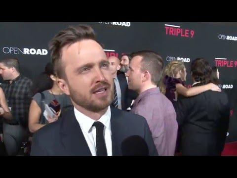"Triple 9: Aaron Paul ""Gabe Welch"" Exclusive Premiere Interview"