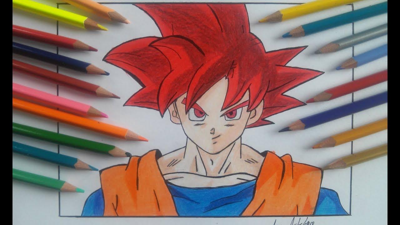 Como desenhar goku super saiyan god passo a passo how to - Foto goku super saiyan god ...