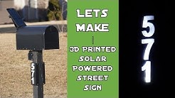 Solar-Powered Mailbox Street Number Lights | Let's Make