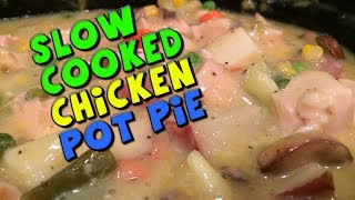 Slow Cooked Chicken Pot Pie Recipe (bodybuilding/healthy)