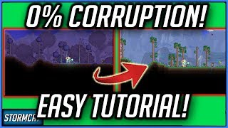 TERRARIA 1.4 0% CORRUPTION PS4 /PC (EASY) 2020 HOW TO GET 0 CORRUPTION AND CRIMSON TERRARIA 1.4