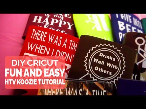 DIY Cricut Fun And Easy Koozie Tutorial