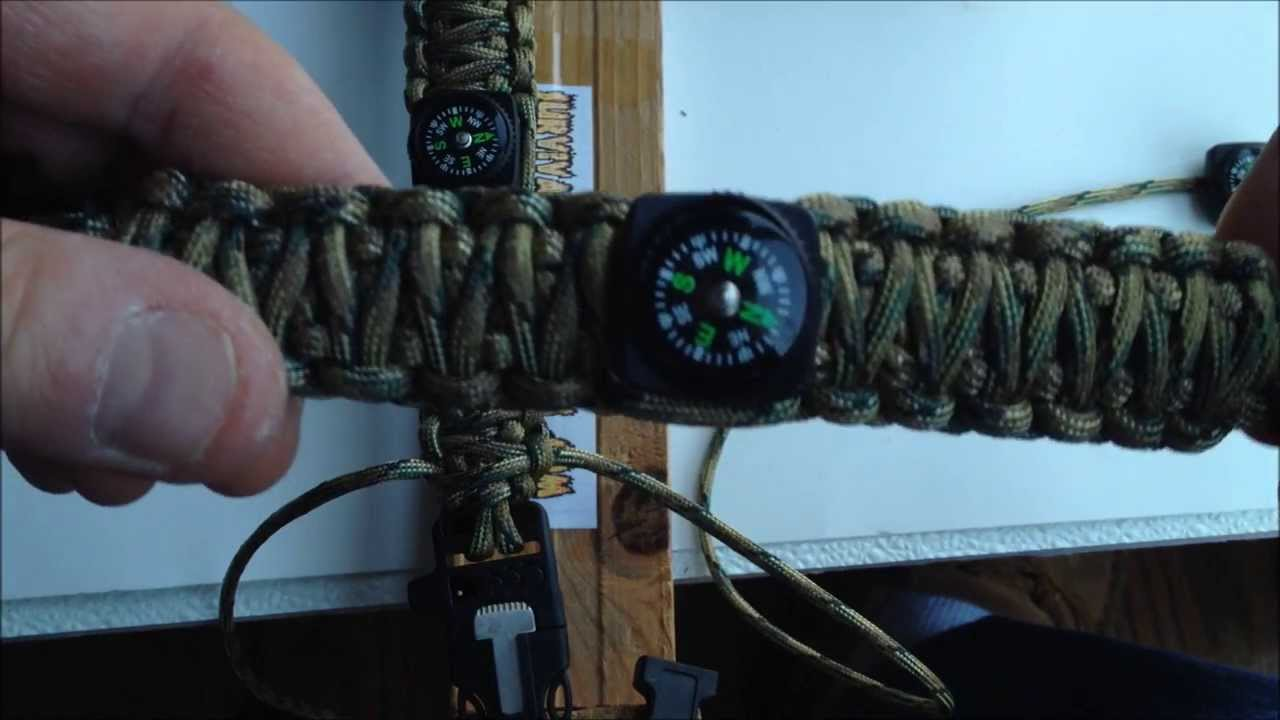 Fire Starter Buckle Bracelet With Compass How to Make Your Own Ultimate Survival  Bracelet b5a24c5fb6f