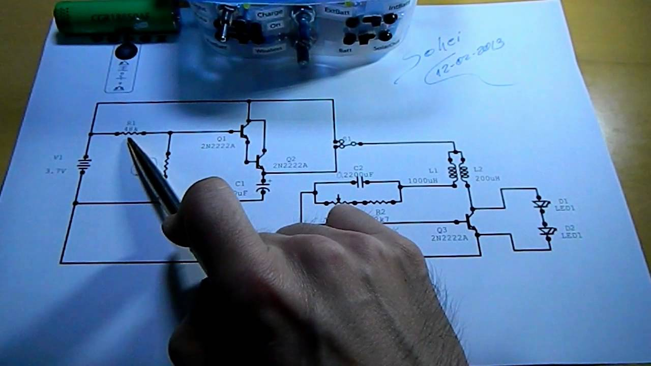 Auto-Light Solar Charger - Schematics Part1 Auto-Light - YouTube