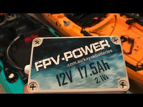 FPV-POWER 17 5AH KAYAK BATTERY AND CHARGER COMBO