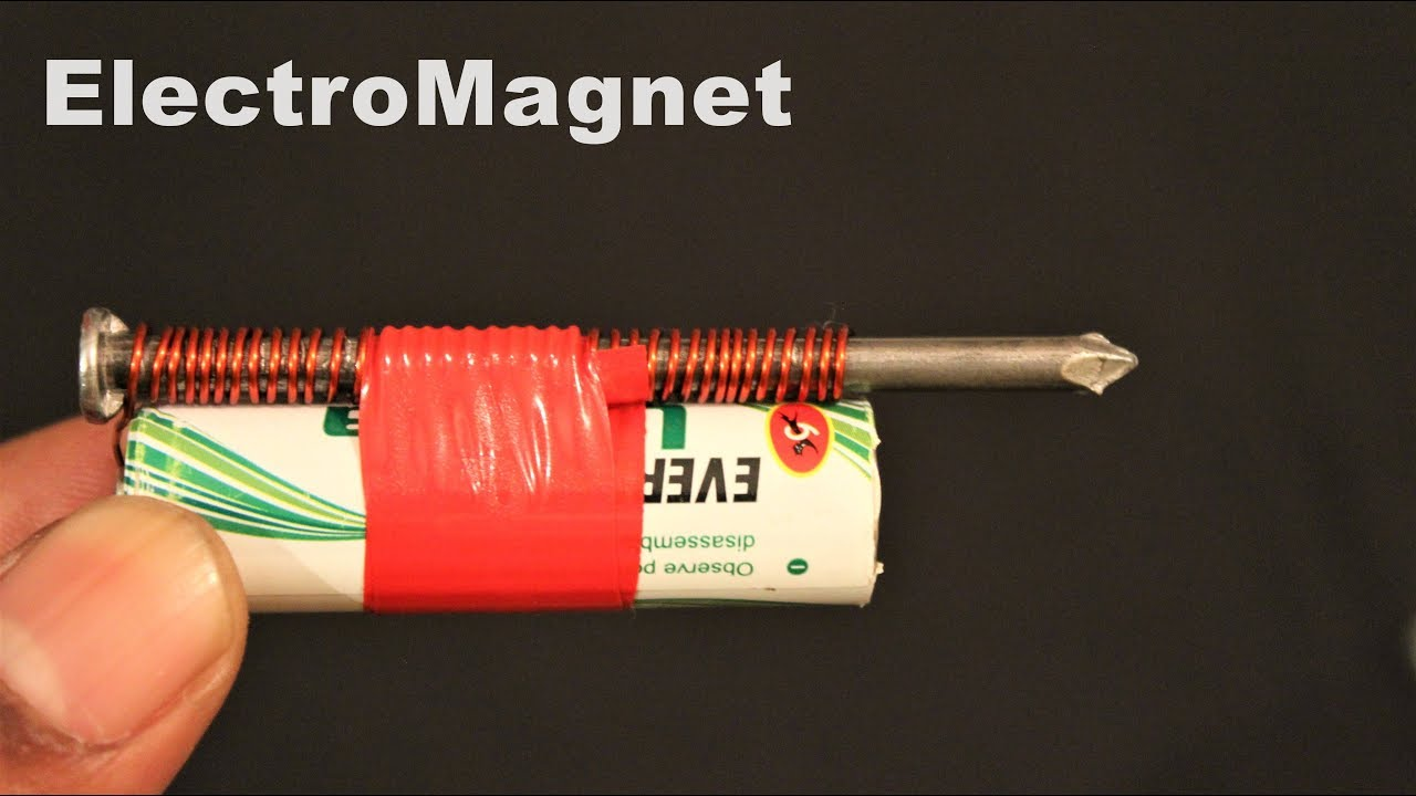 How to make a magnet with a 9v battery