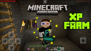 HOW TO MAKE AN XP FARM//MCPE 0.15.6//MINECRAFT POCKET EDITION
