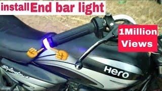 Download Video how to install end bar light Splendor + &  all bike MP3 3GP MP4
