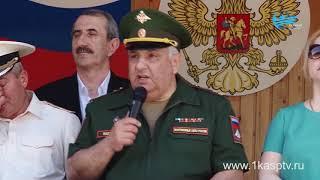 Будущие защитники отечества из числа учащихся школ Каспийска приняли участие в муниципальных военных