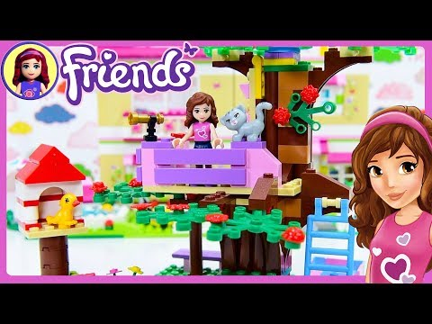 LEGO Friends Olivia's Treehouse Build Review Silly Play - Kids Toys