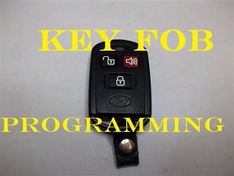 Programming KeyFob on a 2004 Hyundai Santa Fe (Some years may differ)