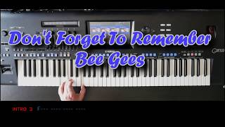 Don't Forget To Remember - Bee Gees, Cover mit titelbezogenem Style auf Yamaha Genos