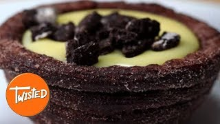 How To Make Cookies And Cream Churro Bowls | Chocolate Desserts | Sweet treats | Twisted