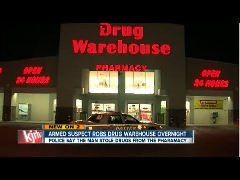 Another robber takes drugs from pharmacy