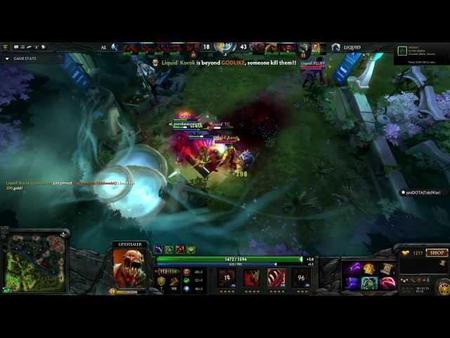 Dota 2 Highlight - Absolute Legends vs Team Liquid (The Defense 3 - Group A)