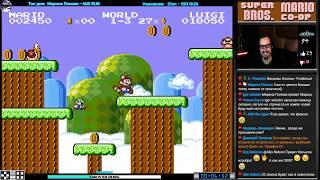 Фиаско Super Mario Bros. Co Op C Vitalya Dendy Nes Famicom 8 Bit Hack Стрим RUS