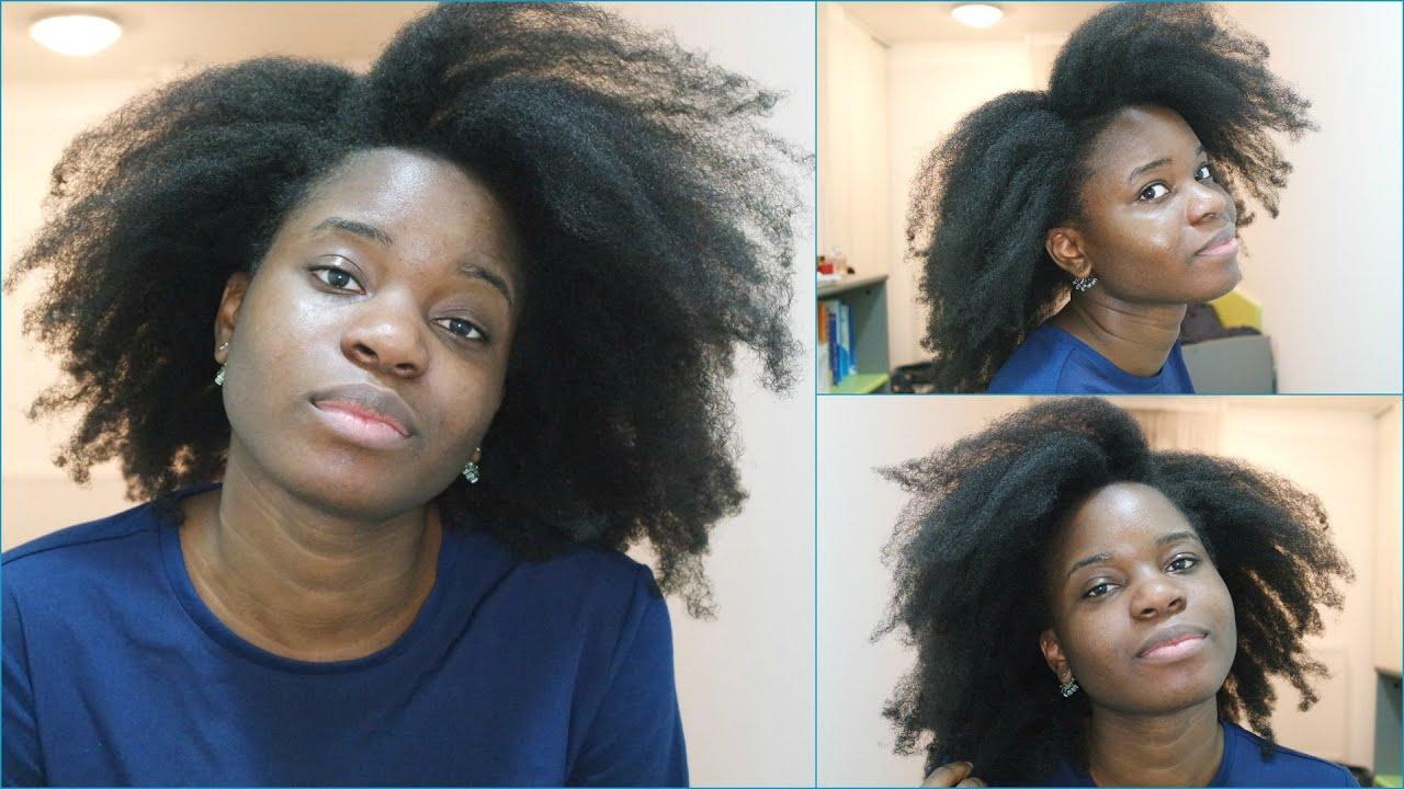 Pousse de cheveux afro en 1 mois