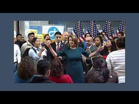 Undocumented Immigrants Interrupt Pelosi News Conference