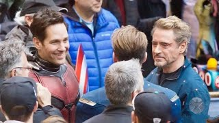 Avengers 4 End game Video Goes on set with Robert Downey Jr. & Chris Evans !