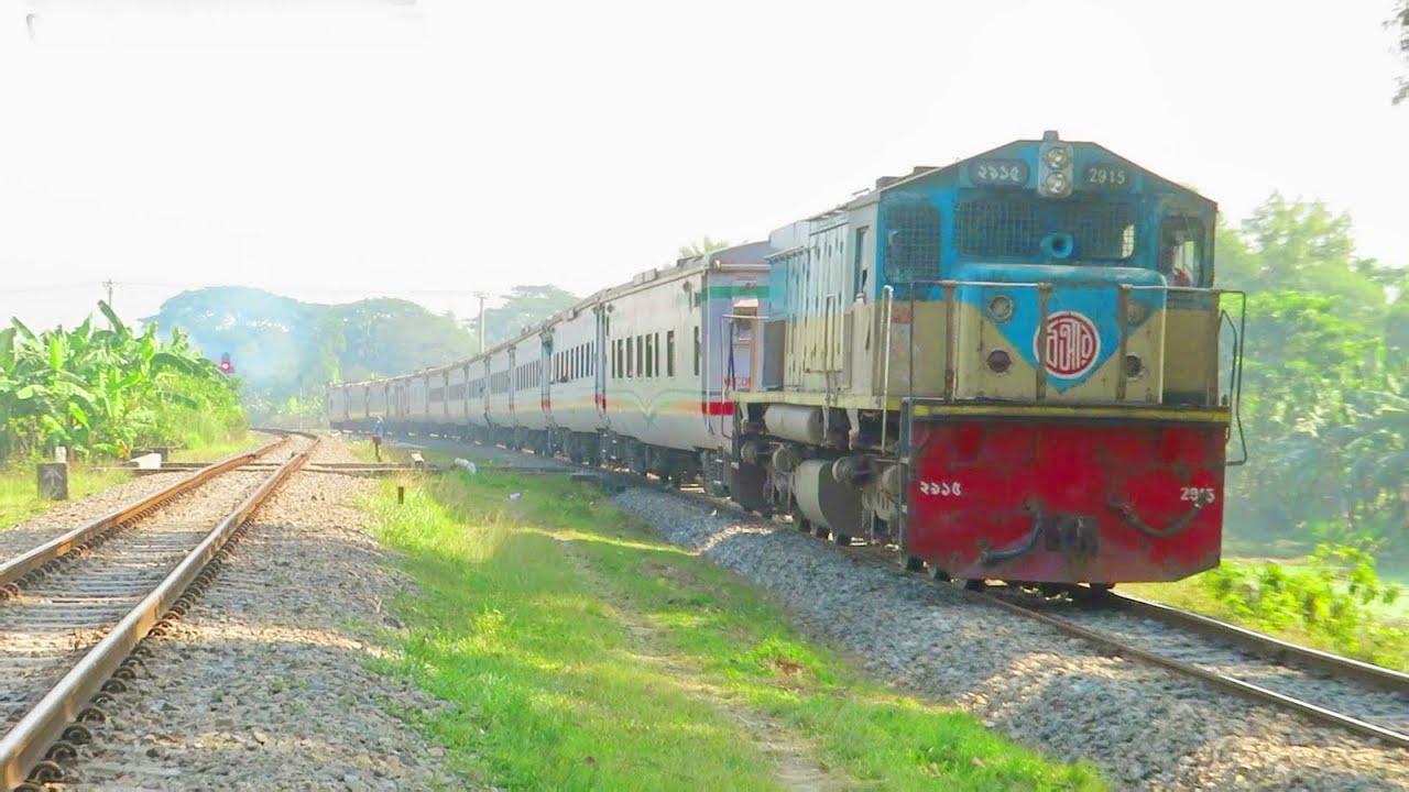 White Chinese Coaches Bangladesh Railway    Kalni Express Train