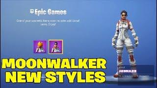 Fortnite moonwalker peau Nouveau style. Pas de masque - 2 NOUVEAUX STYLES