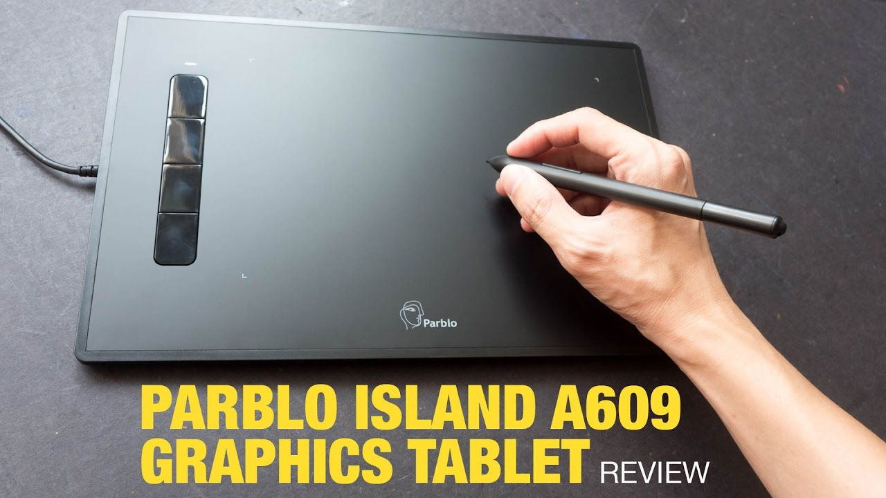 Review: Parblo Island A609 Graphics Tablet (Supports Tilt