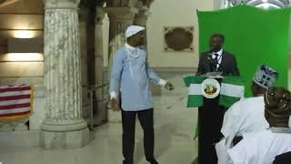 The CEO Dangamacin Clothings USA during the Nigeria Flag Raising Ceremony in Newark  New Jersey USA