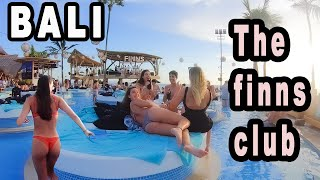 The Worlds Best Beach Club Bali Indonesia ( FINNS CLUB )