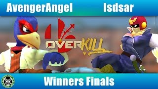 Overkill 2 - AvengerAngel (Falco) Vs. Isdsar (Cpt.Falcon) - Winners Finals - Melee