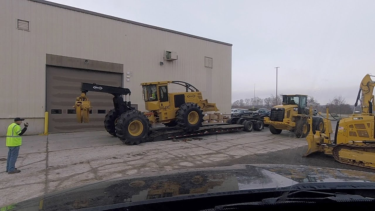 MILTON CAT in Brewer, ME receives a brand new Weiler S550 skidder from Canada