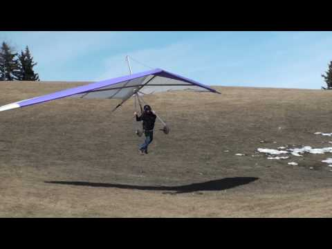 calgary hang gliding north haven my friends...    bev great and fast correction for cross wind