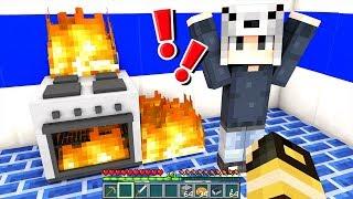 LA CASA DI GIORGIO VA A FUOCO!! - Casa di Minecraft #7