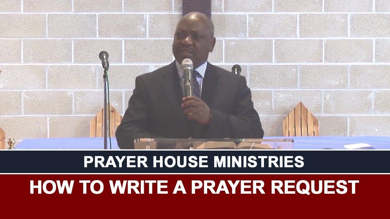 How To Write A Prayer Request