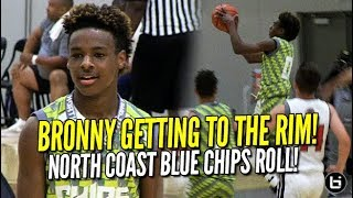 LeBron James Jr Droppin' SICK Dimes!! North Coast Blue Chips 2023 on a Roll! Midwest Mania!