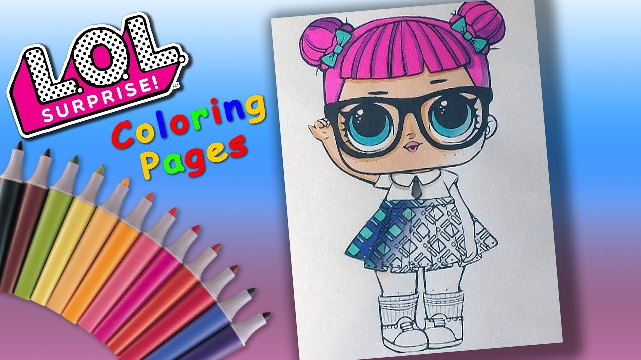 Teacher's Pet LOL Doll Coloring Page for Girls. LOL Doll ...