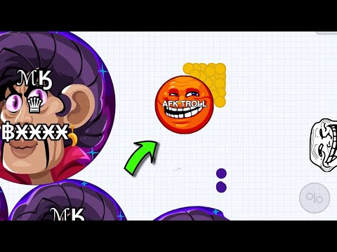 Agar.io Mobile | AFK TROLLING + MAGIC BLOB TROLL | BEST AGARIO TROLL EVER !!!