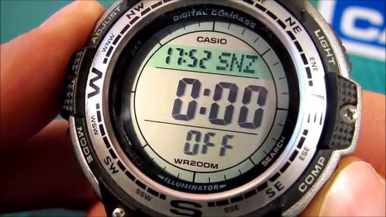 ff57c74eaca Casio Twin Sensor Digital Compass Sport Watch SGW100 1V - YouTube