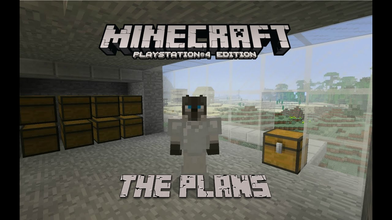 Minecraft survival ps4 lets play base plans youtube for Minecraft base blueprints