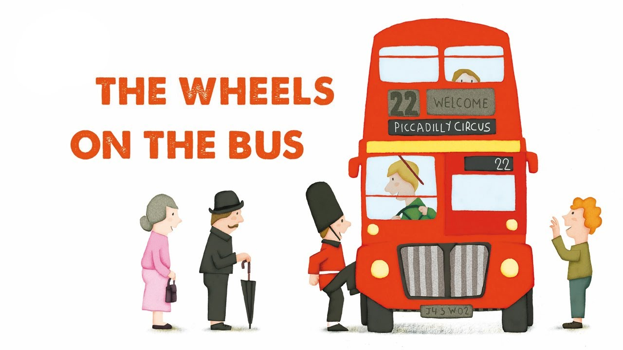 Steve Waring - THE WHEELS ON THE BUS - comptine anglaise pour enfants