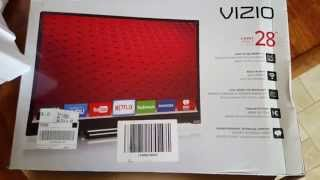 Unboxing 2015 VIZIO 28 inch E28h C1 720p Smart LED TV