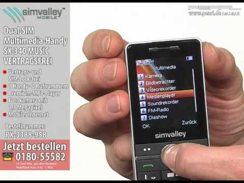 simvalley MOBILE Dual-SIM Multimedia-Handy SX-340 MUSIC VERTRAGSFREI