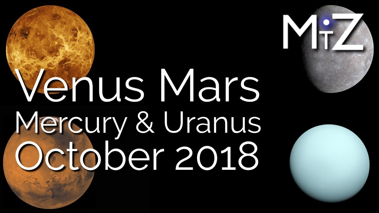Venus Square Mars & Mercury Opposite Uranus Wednesday October 10th 2018 -  True Sidereal Astrology