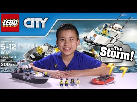 POLICE PATROL BOAT  LEGO City Set 60129 UNDERWATER GoPro ACTION! Timelapse, Unboxing, &